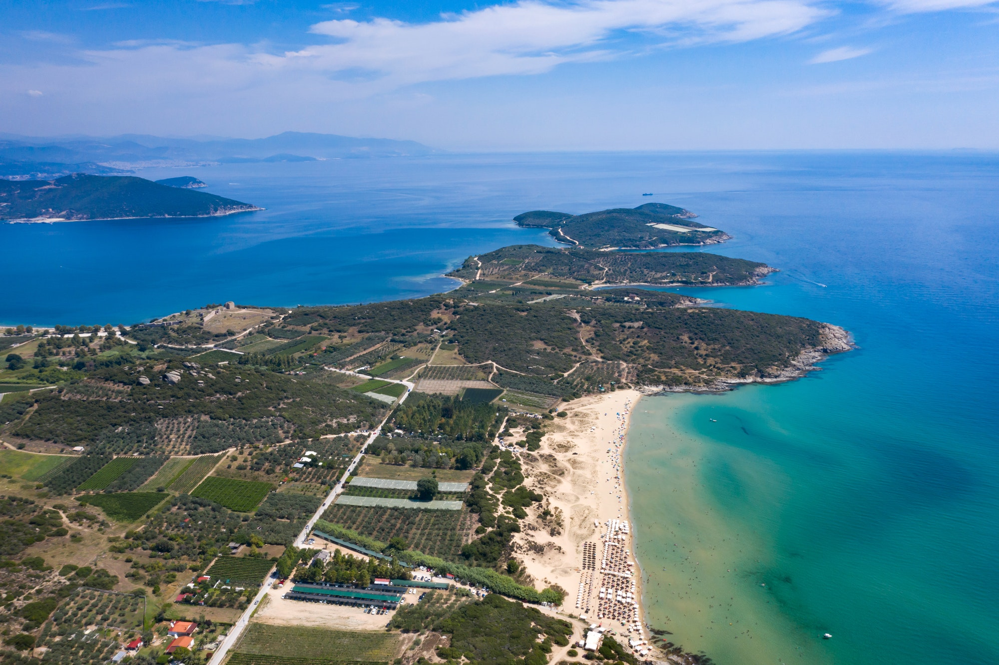 Landscape around Kavala, Greece.
