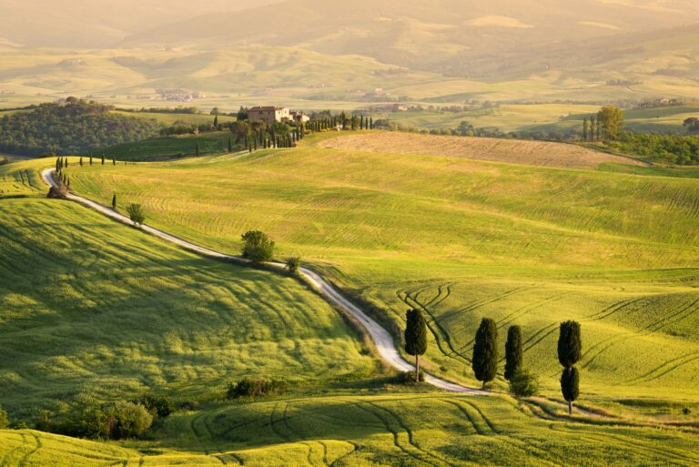 Famous white road in Tuscany