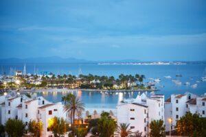 Port de Alcudia at sunrise, Mallorca.